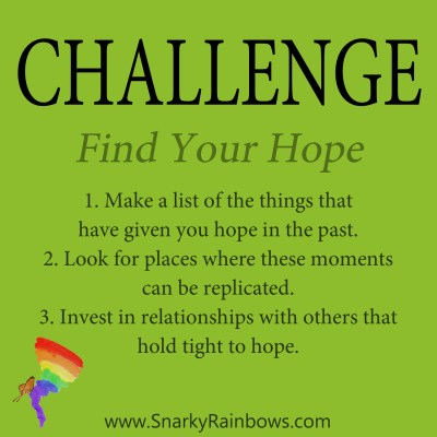Daily Challenge for December 6, 2019 - find your hope
