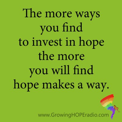 Growing HOPE daily quote - more ways to find hope