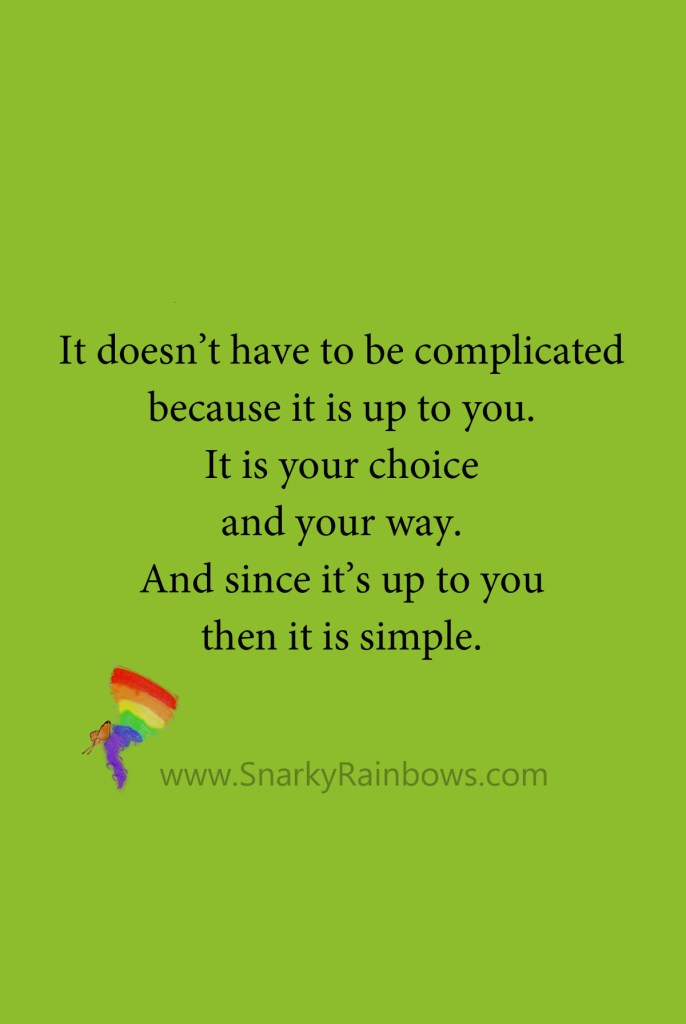 Quote - not complicated