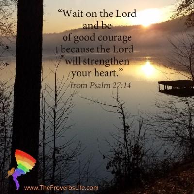 Scripture Focus - Psalm 27:14