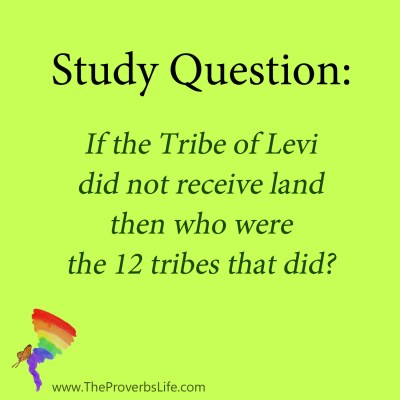 Bible Study question - 12 tribes