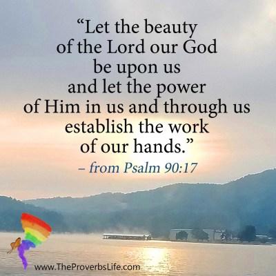 Scripture Focus - Psalm 90:17