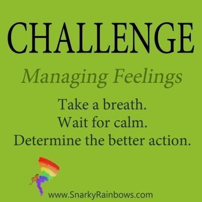 Daily Challenge - managing feelings