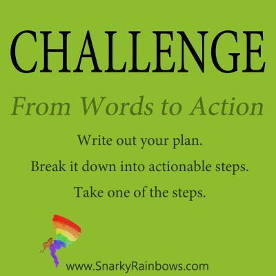 Daily Challenge - words to action