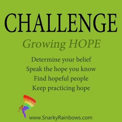 Daily Challenge - growing hope