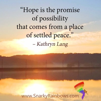 #QuoteoftheDay - hope is the promise