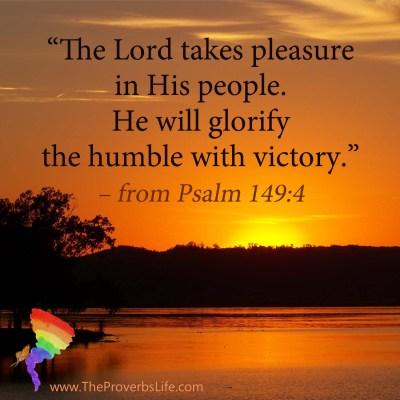 Scripture Focus - Psalm 149-4