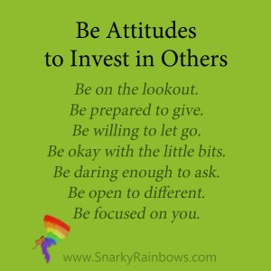 be attitudes to invest in others