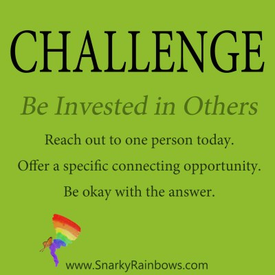 daily challenge - invest in others