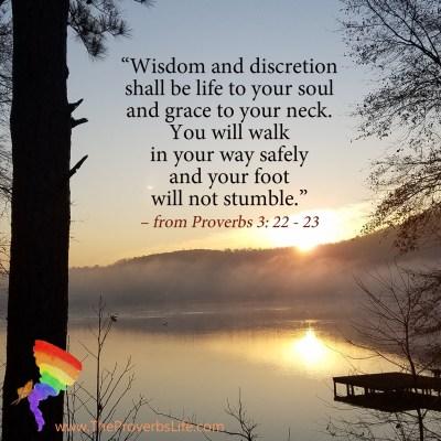 Scripture Focus Proverbs 3: 22-23