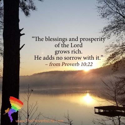 Scripture Focus - Proverb 10:22
