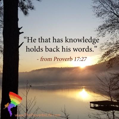 Scripture Focus - Proverb 17:27