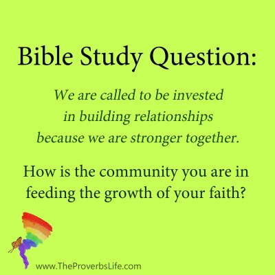 Bible Study Question - feeding the growth of your faith