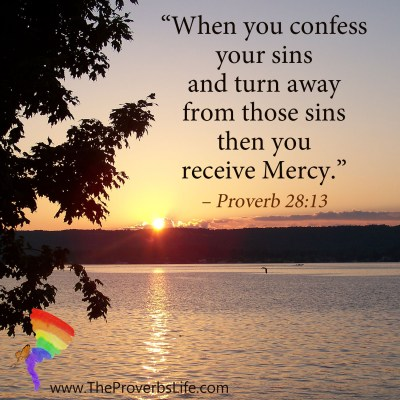 Scripture Focus - proverb 28:13