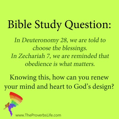 Bible study question - renew your mind
