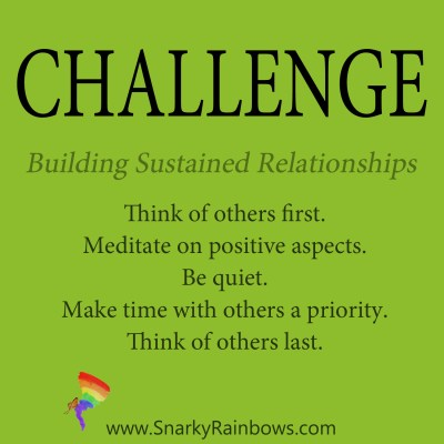 Daily Challenge - building sustained relationships