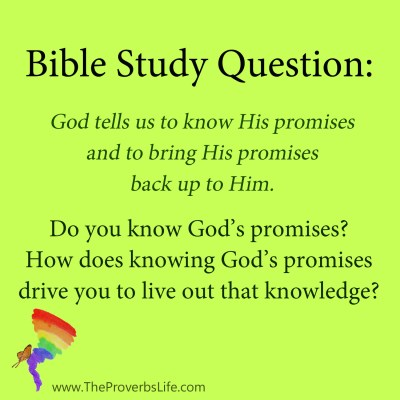 Bible Study Question - know God's promises