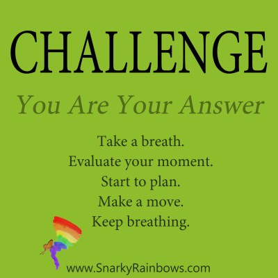 daily challenge - you are your answer