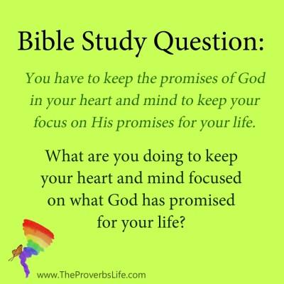 Bible Study Question - god focus