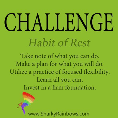 Daily Challenge - habit of rest