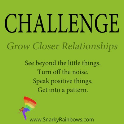 Daily Challenge grow closer relationships