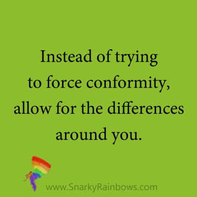 allow for differences
