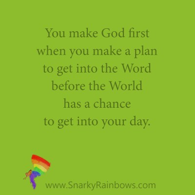 Quote of the Day - Make God First