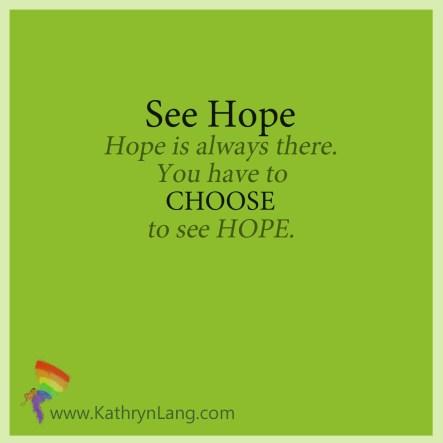 See hope