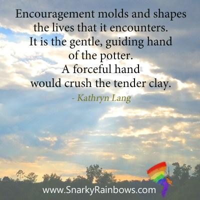 gentle hand of encouragement