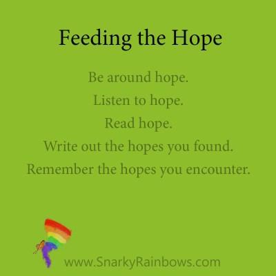 feeding the hope