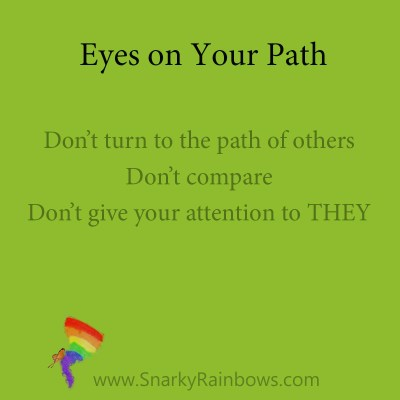 Eyes on your path - 3 points