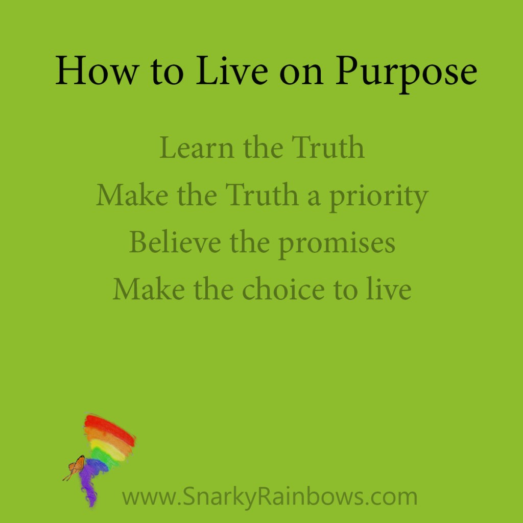 choice to live - four tips for living on purpose