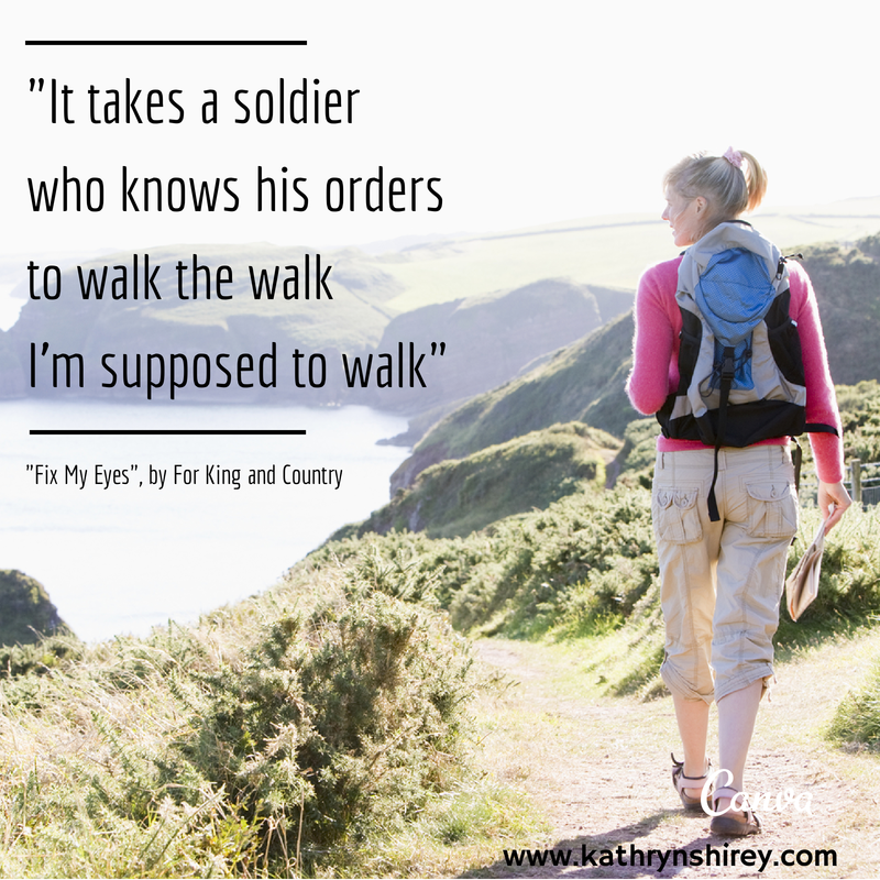 walk the walk, following God's orders