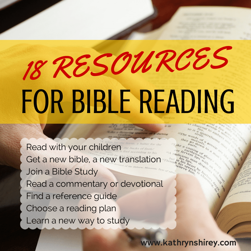18 resources for reading the Bible