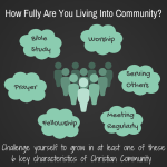 A Challenge to More Fully Live in Community