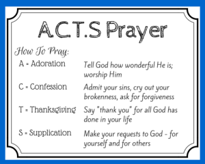A.C.T.S. Prayer