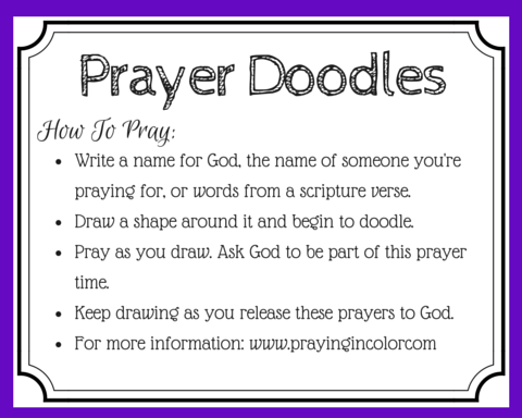 Want to bring more focus to your prayers? Looking for a new way to memorize scripture? Or, just want to try something different in your prayer time? Try prayer doodles. One of my favorite ways to pray! {+free printable prayer cards}
