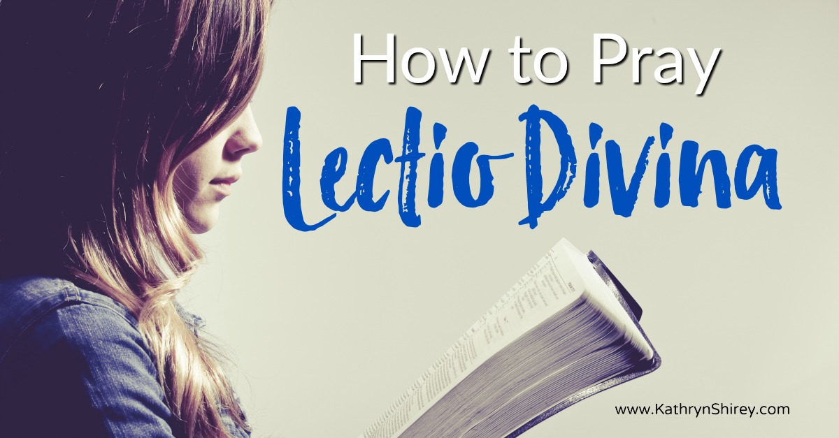 "Learn how to pray the basic Lectio Divina steps to hear God more clearly in your prayers. Pray scripture with the ""ear of your heart."" (+ free printable prayer cards) #Prayer #HowToPray"