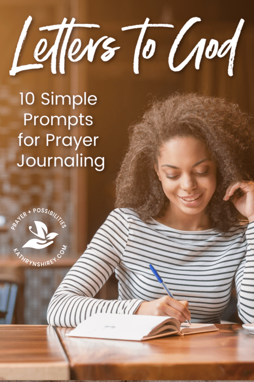 Writing letters to God is a great way to get started prayer journaling. Get started with these 10 simple prayer journal ideas.