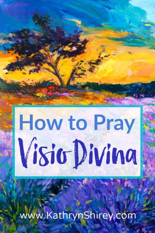 "Learn how to pray Visio Divina, a prayer of ""divine seeing"", allowing God to speak to into your heart through art & images. (+ free printable prayer cards)"