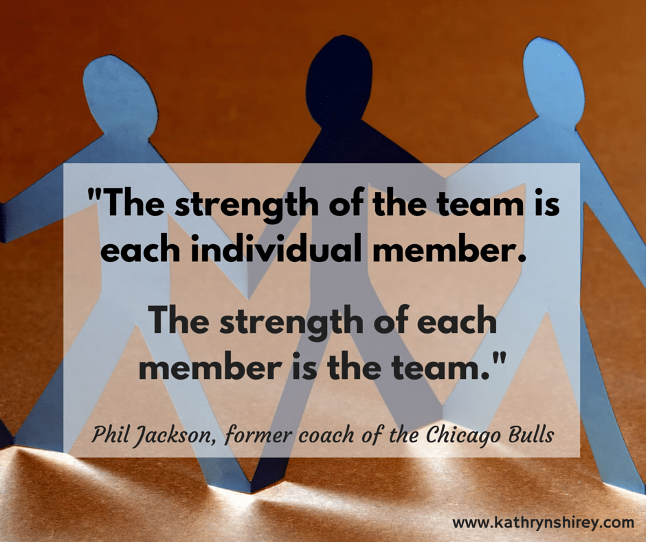 The strength of the team is each