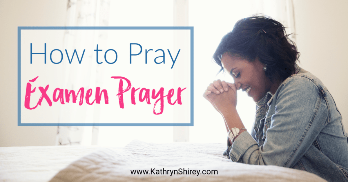 Learn how to pray the Examen prayer and have a daily debrief with Jesus. Don't miss the free daily Examen prayer card and guided Examen printable.