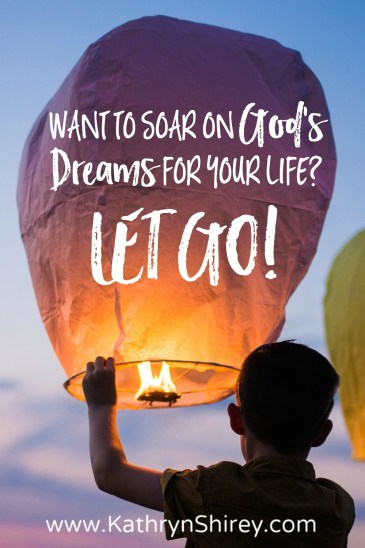 What are you holding onto that's keeping you from reaching your dreams? If we want to chase God's dreams for our lives, we have to let go - all of it!