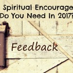What Spiritual Encouragement Do You Need In 2017?