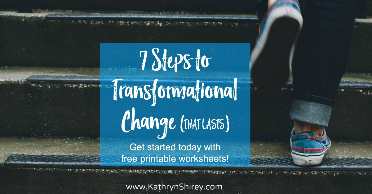 Do you want to make a change that lasts? Real, transformational change - for real this time? These 7 steps are an essential framework to help you successful reach your goals and achieve real change in your life. **Free printable worksheets to help you get started.**