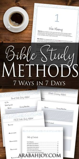 Watch the Bible come alive as you learn to truly study its words. Learn 7 Bible study methods in 7 days with this outstanding Bible Study Methods course from Arabah Joy.