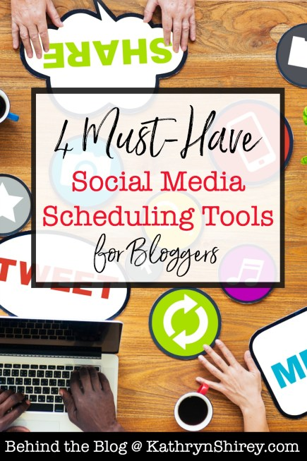 4 must-have social media scheduling tools for bloggers. Automate the conversation-starters; spend your time being present in the conversations.