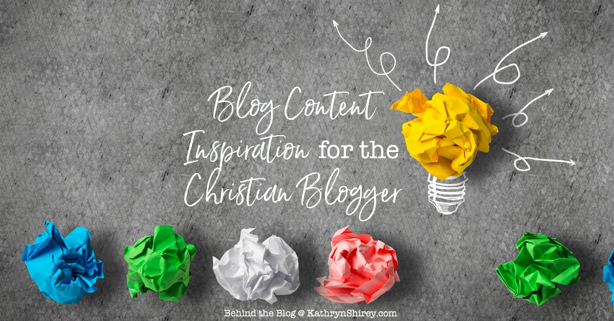 Ever wonder if you'll have enough content to keep your blog going? Try these 11 ideas for blog content inspiration for the Christian blogger.