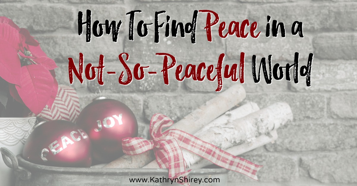 "The angels proclaimed ""peace on earth"" at Jesus' birth, but how do you find Advent peace in this not-so-peaceful world? Even in the hurt and chaos of this world, you can find the peace the angels promised through Jesus. Listen to the story of the nativity and find 3 ways you can have Advent peace in your life!"