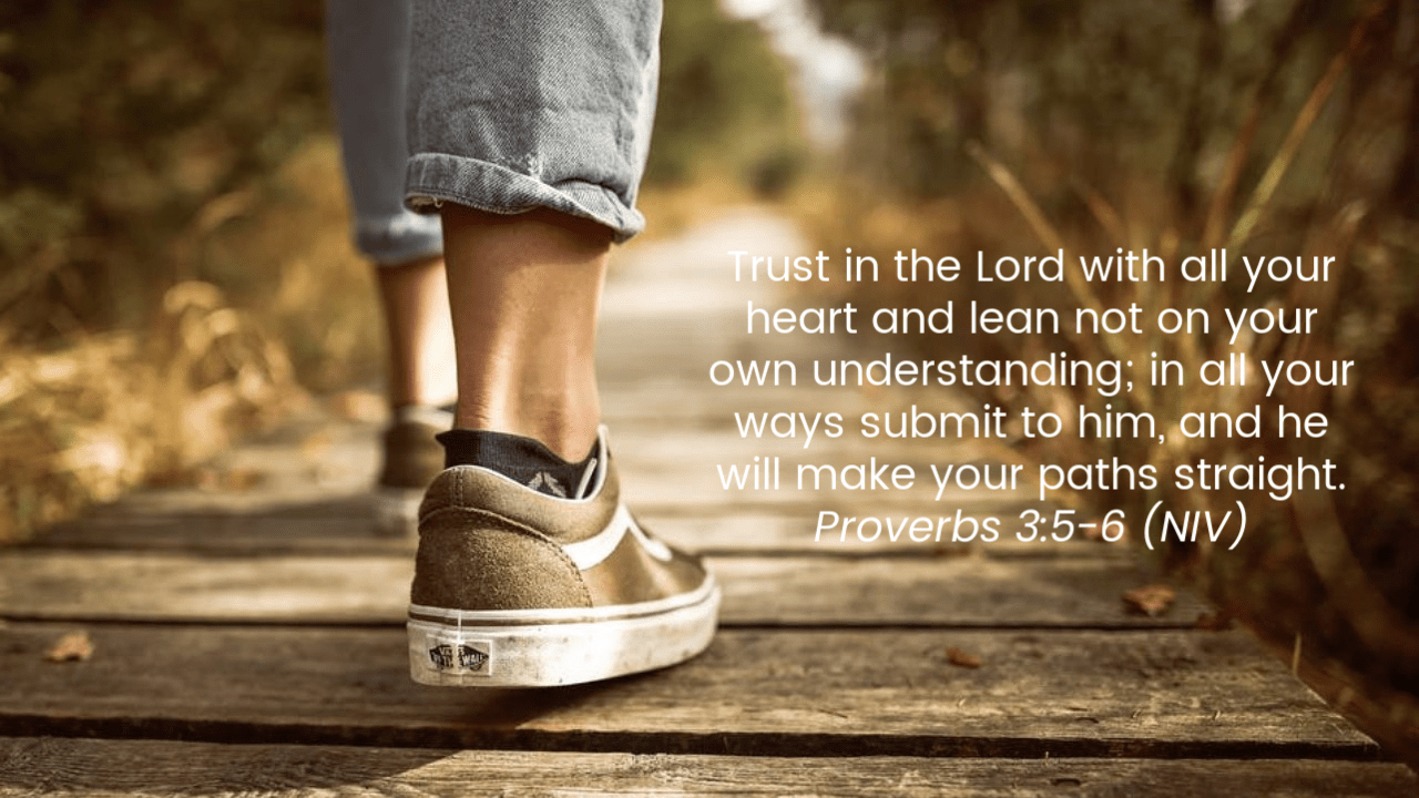 Promise #2: You can trust in God and his plans for your life. Proverbs 3:5-6 | Top 10 Bible Verses for Trusting God In Hard Times.